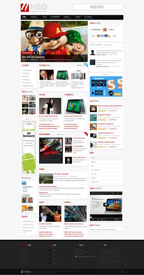 Весь каталог бесплатных html шаблонов и css шаблонов сайтов