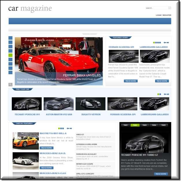 Demo шаблона gk car magazine