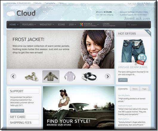 Demo шаблона yoo cloud
