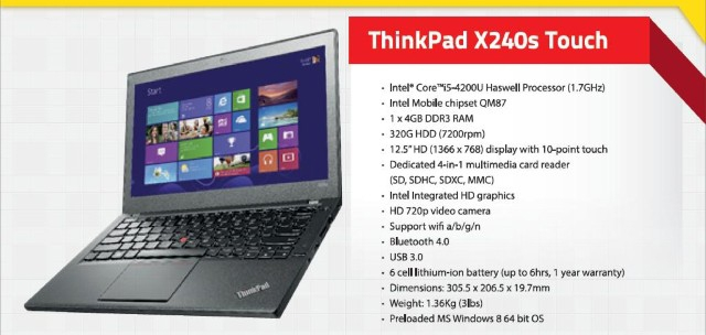 Lenovo ThinkPad X240S Touch – новый ультрабук